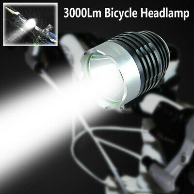 Bicycle Mountain Bike Front Light LED Headlight Lamp Torch Waterproof 3000LM dse