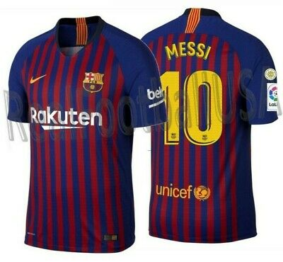 Nike Lionel Messi Fc Barcelona Authentic Vapor Match Home Jersey 2018/19 Patches