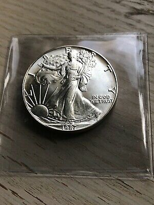 1987 American Silver Eagle BU 1 oz US High Grade Brilliant Uncirculated .9999