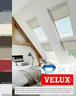 From £39.99 with FREE P/&P! Buttercream Blackout Blinds To Fit Velux Skylights
