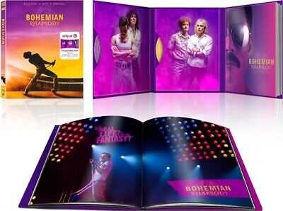 Queen Bohemian Rhapsody Target Exclusive Blu-ray/DVD w/ 24 pg Gallery Book, New