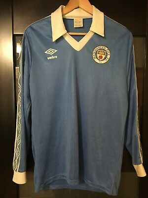 Manchester City 1977/1978/1979/1980 Home Football Shirt Jersey Rare Vintage