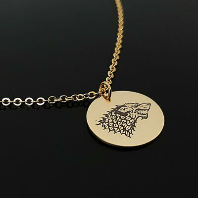 Handmade House Stark Necklace Game Of Thrones Fan Pendant Winter is Coming Charm