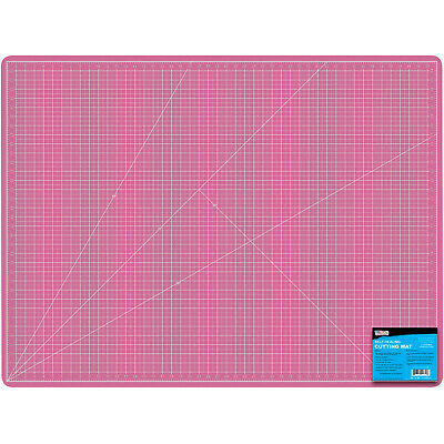 "36"" x 48"" PINK/BLUE Self Healing 5-Ply Double Sided Durable PVC Cutting Mat"