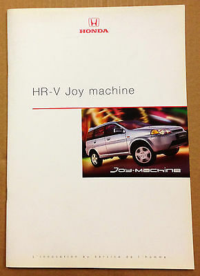 Depliant Brochure Honda Hr-V Joy Machine - 1999 - Neuf
