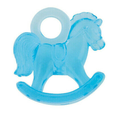 """16 X 1"""" Blue Plastic Rocking Horses Baby Shower Favours Gender Reveal Party Boys"""