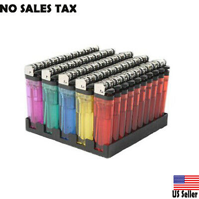 Cigarette Wholesale Disposable Lighters Pack Of 50 with Stand Classic Full Size