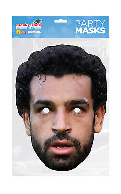 Mo Salah Face Party Mask Card A4 Fancy Dress Sport Football Ladies Mens Kids