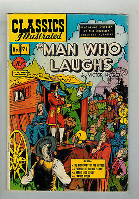 CLASSICS ILLUSTRATED COMIC No. 71 The Man Who Laughs - 10c  HRN 71