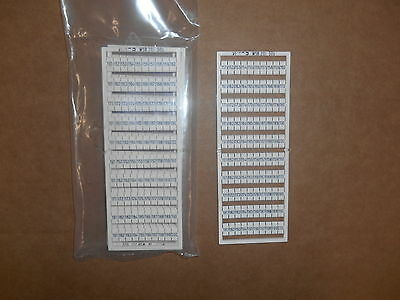 Wago 209-509 Marker Strip 151-200 LOT of 5