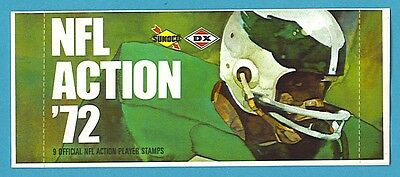 1972 Sunoco Football Stamps Pack Eagles Design (9 NFL Action Player Stamps)