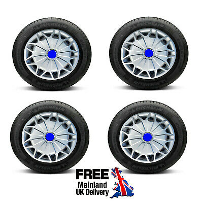 "16"" Wheel Trims For Ford Transit Mk6 Mk7 / Tourneo Set Of 4 Brand New 2000 -"