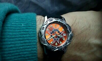 Animal Divers Watch, W003, Orange Flames Face, 003 Series New Battery,new Strap