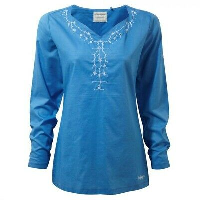 Craghoppers Rayna long sleeve top bluebell - size 8 - brand new with tags