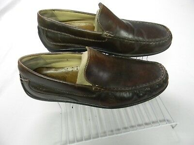 8ac62d95a119 ECCO BROWN LEATHER Loafers Driving Shoes Moc Toe Moccasins EU 43 ...