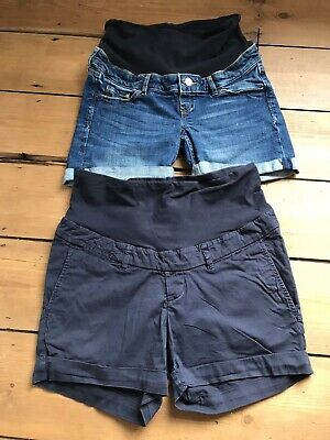 Two Pairs Of Maternity Shorts From H&M Size 12
