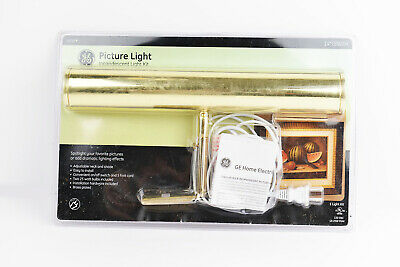 16 in Brass Picture Light Incandescent Light Kit GE 15932