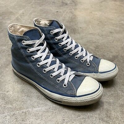 cca63a628e5a Vintage Converse Made In USA High Tops 8.5 Chuck Taylor All Stars Navy Blue