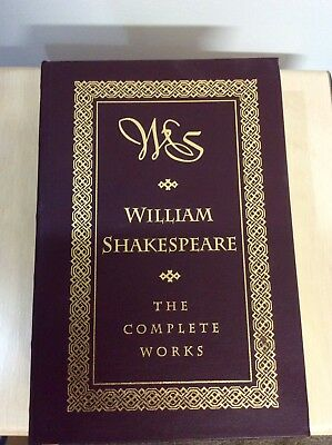 William Shakespeare The Complete Works 1994 Barnes & Noble - Leather Hard Bound