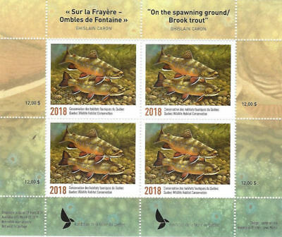 2018 Canada Quebec Wildlife Conservation - DQ88  Mint NH Block of 4 stamps