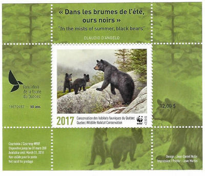 2017 Canada Quebec Wildlife Conservation WWF  -DQ86 overprinted     Mint NH