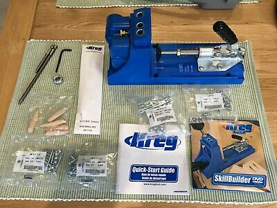 Kreg K4 Pocket Hole Jig Set Drill Guide Removable drill guide for bench top
