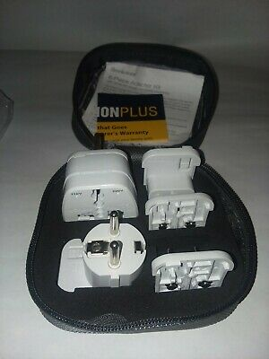 Brookstone 6 Piece Adapter travel kit with snap on plugs for most countries