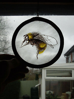 Interesting Stained Glass Honey Bee Nature Medieval Victorian Style
