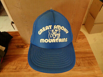 VINTAGE Great Smoky Mountains Bear Mesh Snapback Trucker Hat z8 50185b2e7147