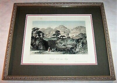 1840's Antique China Engraving Ancient Tombs Amoy Xiamen China Chinese Landscape