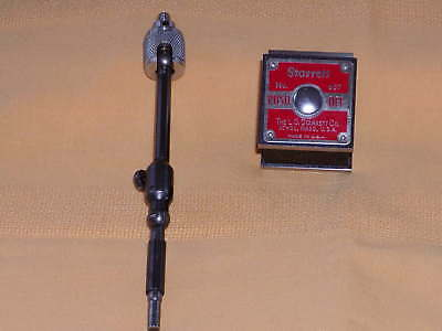 Starrett #657A Magnetic Base With Swivel Post Assembly