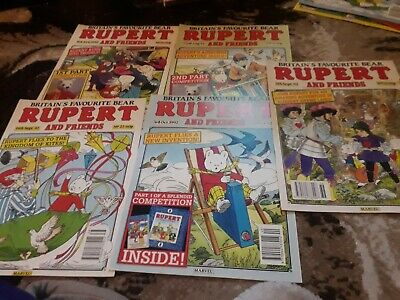 Rupert And Friends Comic 5 Issues No 20 21 22 23 24 From 1992