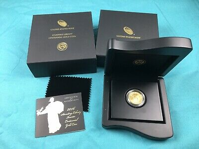 2016-W 1/4 oz Gold Standing Liberty Centennial Anniversary Coin with Box & Cert