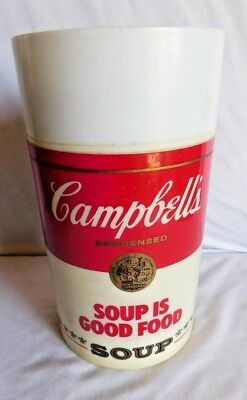 Vintage Campbell's Soup Fuel For Fitness & Soup Is Good Food Plastic Thermos