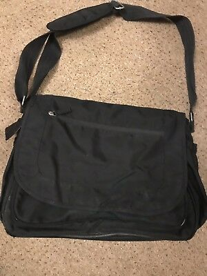 4BABY BLACK ZOBO MESSENGER CHANGING BAG WITH PADDED CHANGING MAT