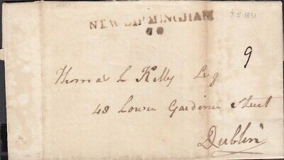 Ireland 1831 New Birmingham mileage to Dublin - entire letter