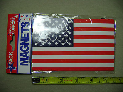 2 Pack of American Flag Patriotic Refrigerator Magnets (NEW) United States USA