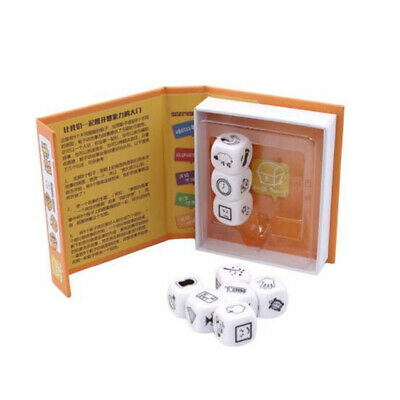 9pcs Story Dice Cubes Unlimited Stories Combinations Story Telling Game