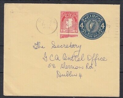 Ireland 1965 4d stationery envelope used Sligo to Dublin