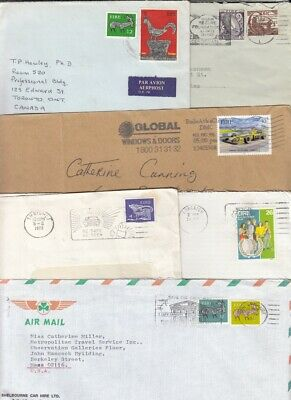 Ireland selection of 12 covers - airmail,slogans etc