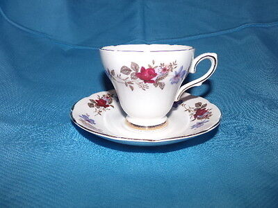 Royal Stutherland Bone China Red Rose Floral Coffee Tea Cup & Saucer England