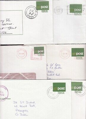 Ireland 1987etc An Post envelopes, used Dublin, Donegal, Sligo: see description