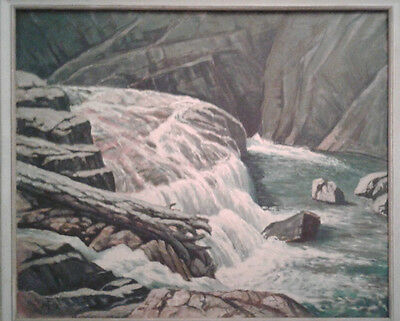 Listed Artist James Russell Ford 1888-1963 Original Oil Painting Signed River