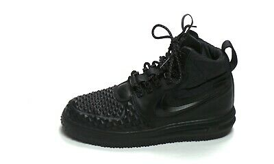 NIKE LUNAR AIR Force 1 Duckboot '17 SZ 8 Triple Black LF1