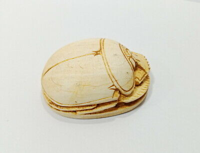 Unique Hieroglyph Scarab Beetle Amulet Ancient Egypt Civilsation Antique Scarab