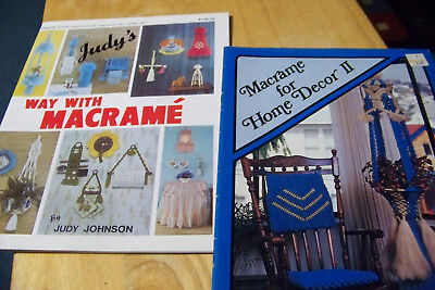 2 How To: Judy's Way With Macrame + Macrame For Home Decor II +knot instructions