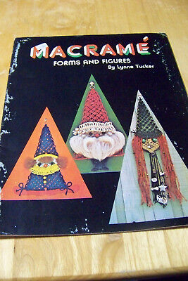 MACRAME Forms and Figures by Tucker CHRISTMAS + Owls Caterpillars Clown Necklace