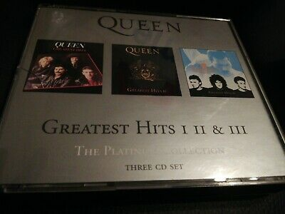 Queen - Greatest Hits I, II & III, Platinum Collection 80's Pop CD VG condition