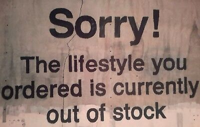 "SORRY! THE LIFESTYLE YOU ORDERED BANKSY BANKSEY 7x5"" PICTURE PRINT WALL ART"