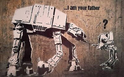 "I AM YOUR FATHER STAR WARS BANKSY BANKSEY 7x5"" PICTURE PRINT WALL ART"